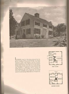 1938 Salt-Box home floor plan/design