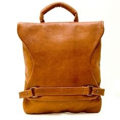 interesting closure -- leather bag
