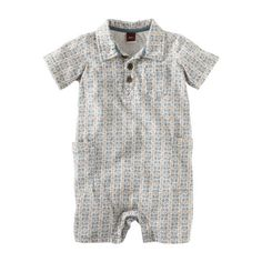 Tea Collection Baby-boys Infant Agung Polo Romper