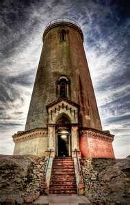 The Piedras Blancas lighthouse on the Californian coast