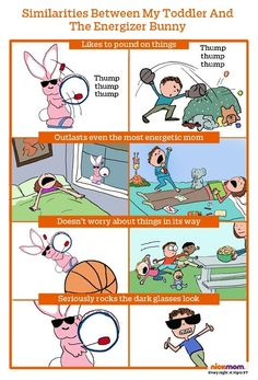 Toddlers are the same thing as the Energizer Bunny.