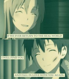 The promise which Asuna kept till the end :)