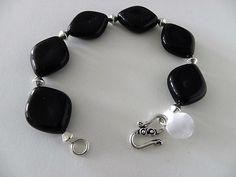 Black Onyx Bracelet  - Jewelry creation by Sharon Gulezian