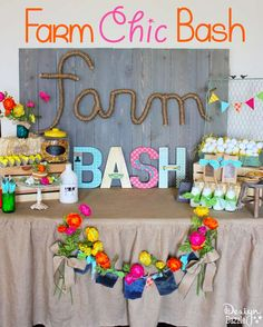 Farm Chic Bash display table from MichaelsMakers Design Dazzle