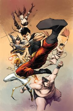 shang chi With iron fist and the other immortal weapons
