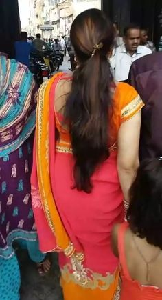 Nice hair and beautiful backsides Long Hair Ponytail, Braids For Long Hair, Ponytail Hairstyles, Trendy Hairstyles, Long Indian Hair, Saree Photoshoot, Thing 1, Most Beautiful Indian Actress, Indian Beauty Saree