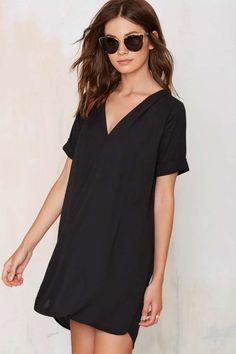 Power Shift Chiffon Dress - Black - Dresses | Clothes | Dresses & One Pieces