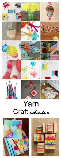 There are so many fun things that can be done with yarn. Why not start with one of these Yarn Craft Ideas.