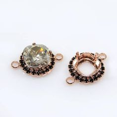18x13mm Rose Gold Adjustable Ring Setting W/crystal Rhinestone Fit Swarovski4120 Clear-Cut Texture Jewelry Settings
