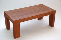 Solid Bamboo Asymmetric Coffee Table Ina - Light Espresso