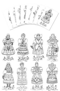 Coloring Pages - Czech & Slovak Girl costumes - Daniela M Czech and Slovak heritage Flag Coloring Pages, Coloring Pages For Kids, Coloring Books, Coloring Sheets, Kids Activity Books, Book Activities, Pictures Of Flags, Czech Republic Flag, Recipe Drawing