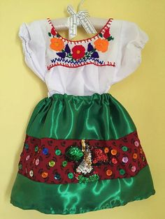 China poblana mexican outfit  baby cinco de by Miamorcitocorazon
