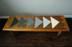 Lane MCM Coffee Table Ombre Triangle Pattern   eBay