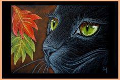Art: BLACK CAT 115 - HALLOWEEN by Artist Cyra R. Cancel