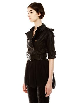 Leather and Chiffon Trench