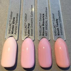 Mauve Maverick, Cake Pop, Blush Teddy, Winter Glow CND Shellac Art Vandal comparison _feewallace