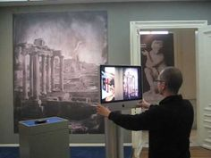 MovableScreen at Allard Pierson Museum in Amsterdam