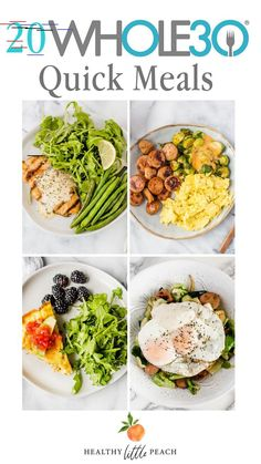 Eating Meals Ideas Quick Meal Ideas - Healthy Little Peach Healthy Little Peach Cheap Clean Eating, Clean Eating Snacks, Healthy Eating, Clean Foods, Eating Raw, Cooking For One, Easy Cooking, Healthy Cooking, Paleo Recipes