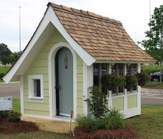 Whether you are looking for a playhouse or potting shed, Flutter-By Cottage will bring a touch of whimsy to your garden..                                                                                                                                                      More