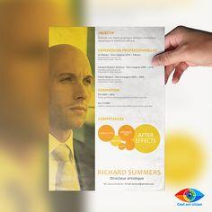 CV / Référence : #0CV3 Exemple de CV. Si vous avez besoin d'un CV, envoyez moi un mail : Cool.art.vision@gmail.com Suivez-moi sur Facebook : http://on.fb.me/1ktKIm0