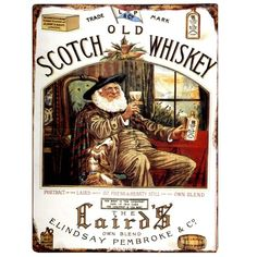 1888 The Laird's Whiskey poster Scotch Whisky, Malt Whisky, Fete Saint Patrick, Vintage Tin Signs, Vintage Metal, Photo Images, Wine And Spirits, Vintage Advertisements, Vintage Ads