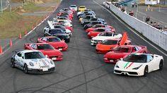 """Um encontro com supercarros acelerando em arrancadas e exibições de drift, e ainda levando os visitantes para um """"passeio"""": é assim o Supercar Sound Festival no circuito de Ebisu, no Japão. Confira no FlatOut!"""