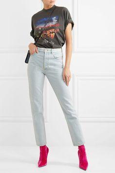 Balenciaga   Genuine high-rise straight-leg jeans   NET-A-PORTER.COM