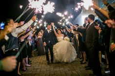 couple sparkler send off Angela MALICKI events