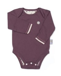 Purple Bodysuit - Organic Baby Clothes by endue endue is more than just soft organic baby clothing, with each purchase endue will feed a child in need.
