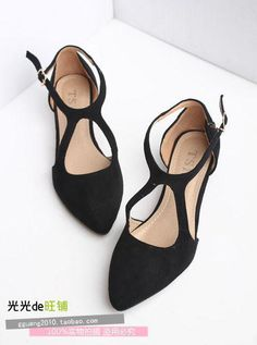 Shoes Women Real New High Heels 2015 Selling Designer Shoes Big Yards Joker Side Empty Mouth Pointed Low With Women's Size35-42