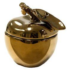 Sagebrook Home Ceramic Decorative Apple Box Bronze - 11287