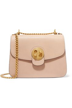 CHLOÉ Mily medium textured-leather and suede shoulder bag