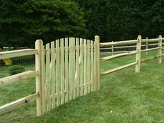 split rail fence gate - Mesh for vines and keep boy and dogs from going through, gate