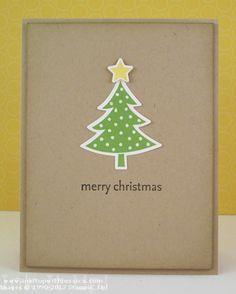 Simple handmade Christmas Card  http://inkitupwithjessica.com/easy-christmas-card/#