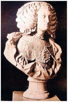 Atr. Nicolás de Bussy. Busto de Doña Mariana de Austria, Londres, colección Particular (en 1923). Spanish Ladies, Spanish Woman, Infanta Margarita, Spain And Portugal, Marie Antoinette, Austria, Baroque, Sculptures, Portraits