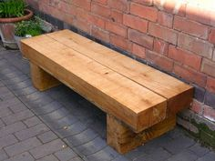 When you plan to invest in patio furniture you want to find some that speaks to you and that will last for awhile. Although teak patio furniture may be expensive its innate weather resistant qualit… Railway Sleepers Garden, Oak Sleepers, Garden Seating, Outdoor Seating, Outdoor Decor, Garden Benches, Garden Bench Seat, Bench Swing, Garden Bed