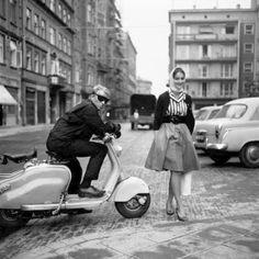 Świetne foto! Eustachy i Matylda - Warszawa, 1961 rok, fot. Tadeusz Rolke