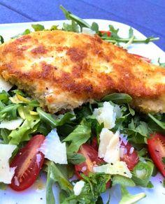 Double Yolked – Crispy Chicken Arugula Salad