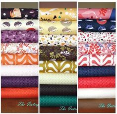 Outfoxed fat quarter bundle by lizzy house cotton quilt fabric