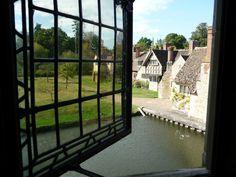 The view from Anne Boleyn's bedroom in Hever Castle.