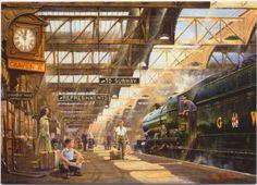 terug in de tijd Hill Station, Train Station, Steam Railway, Train Art, Railway Posters, Train Pictures, Great Western, Steam Locomotive, Train Tracks