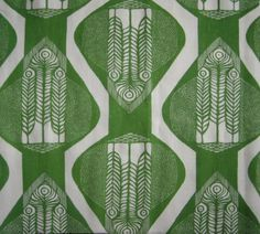 Green repeated pattern