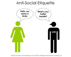 So I totally ranted about social media etiquette and self-promotion. Read my post by clicking on this Anti-Social Etiquette photo.