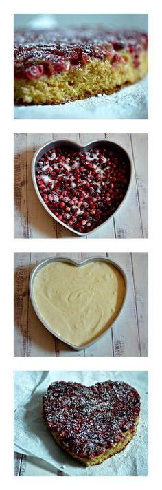 Cranberry Upside-Down Cake Kosher Desserts, Cranberry Upside Down Cake, Pie, Valentines, Cooking, Food, Torte, Valentine's Day Diy, Kitchen