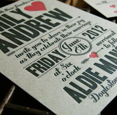 Cupid   Letterpress Wedding Invitation Sample by paisleytreepress, $5.00