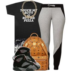 A fashion look from January 2015 featuring ESPRIT activewear pants, MCM backpacks and LOFT necklaces. Browse and shop related looks.
