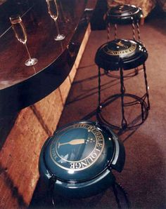 Champagne Cork Capsule Stools: Moët et Chandon Chairs