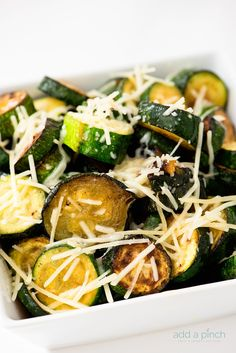 Parmesan Zucchini and Eggplant from @addapinch