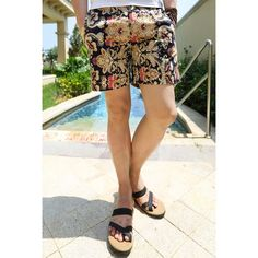 Stylish Zipper Fly Royal Floral Print Cotton Shorts For Men, COLORFUL, 32 in Shorts | DressLily.com