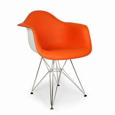 Marais Arm Chair Orange. This beautiful chair would give any room a pop of color!